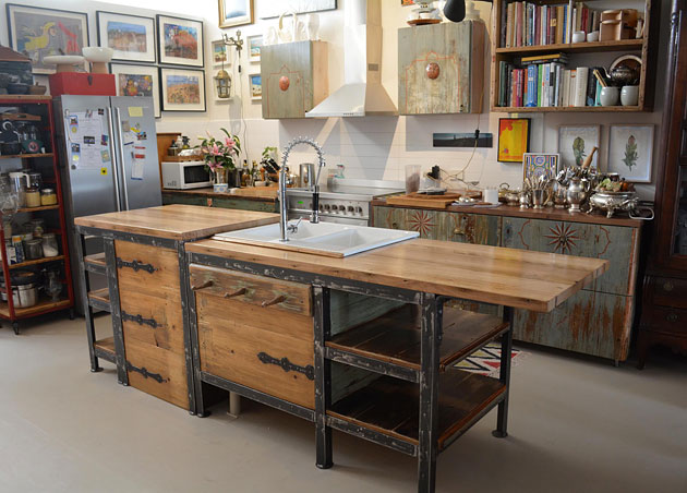 T Industrial Style Kitchen Fitout By Recycled Lane Melbourne