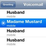 A voicemail from Madame Mustard…