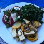 Kale & Cucumber Salad with Tahini Avocado Dressing