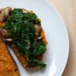Sandwich tendance au potimarron et au kale