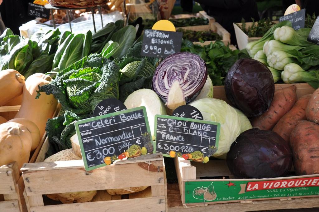 Local veggies Marche d'Aligre