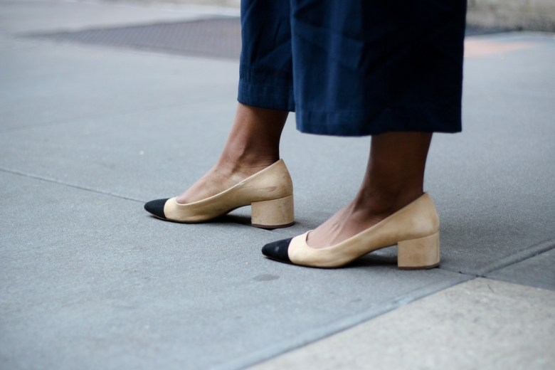 Chanel Two Tone Cap Toe Pumps Dupe from Zara