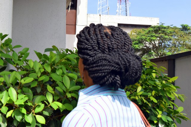 Naturals in the City- Updo style with Kinky Twists