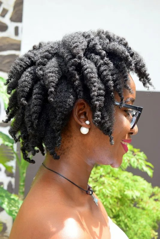 Chunky twist out on 4C Natural hair
