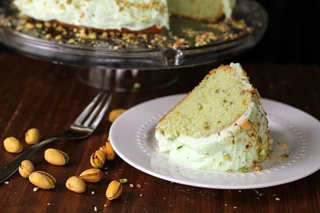 Homemade Pistachio Pudding Cake - The Kitchen Magpie