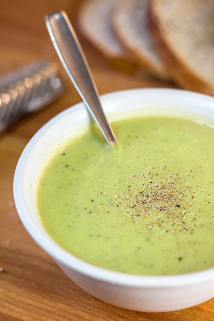 Simple Zucchini Soup (Zucchinisuppe) • The Kitchen Maus