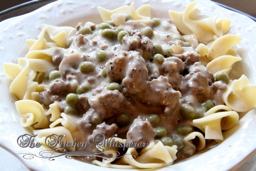 Mom's Ground Beef Stroganoff
