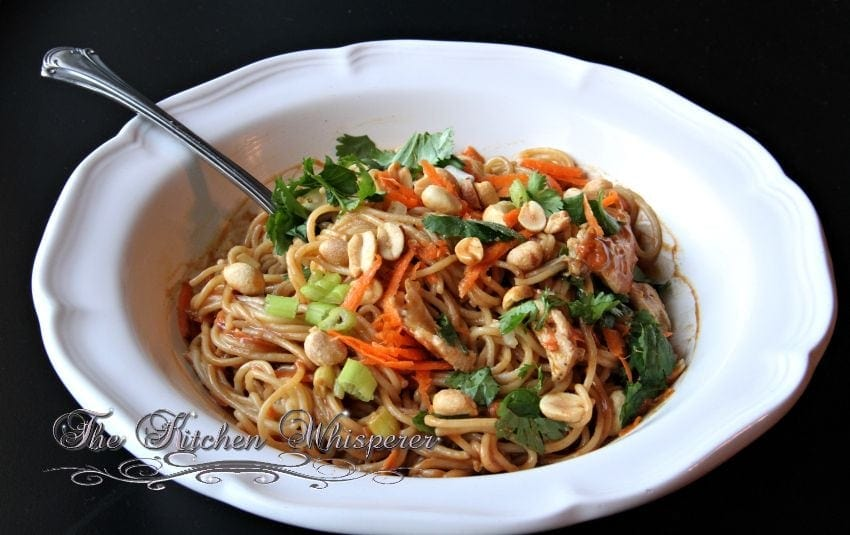Thai Noodles with Chicken in a Spicy Peanut Sauce3