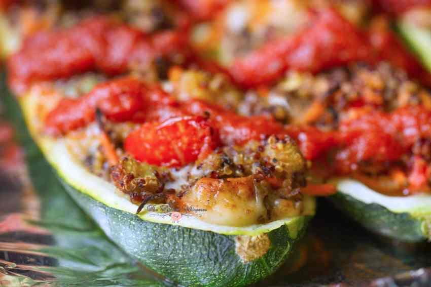 Italian Veggie Stuffed Zucchini Boats Starring Ragu ...