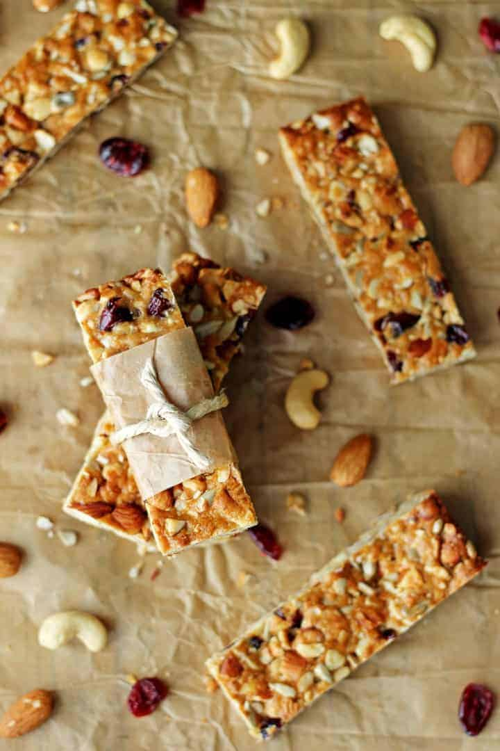 Cranberry Almond Snack Bars