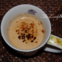 Microwave Coffee Cappuccino style - just a minute