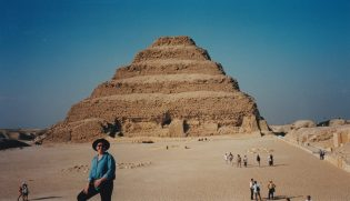 Tammy at the Step pyramid of Djoser, Egypt.