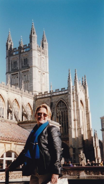 Tammy visiting Westminster Abbey, London.
