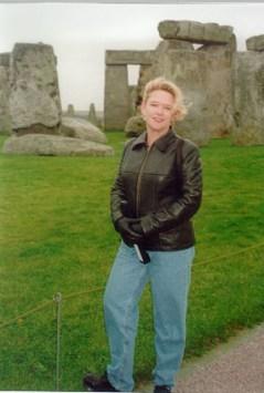 Tammy visiting Stonehenge.