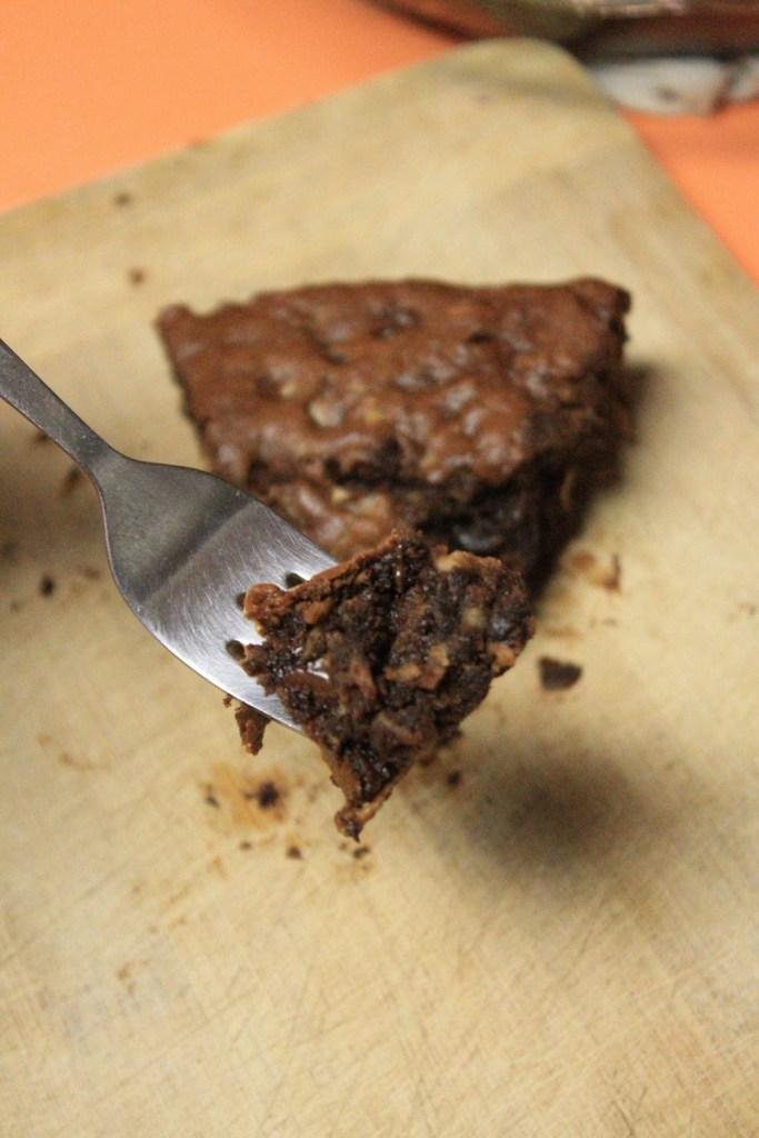 Gluten Free Chocolate Brownie Pie | The Lazy Vegan Baker