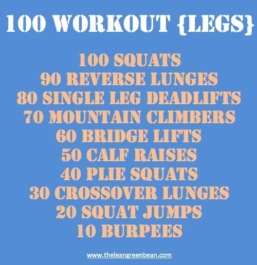 100legs11 All time Favorite Workouts