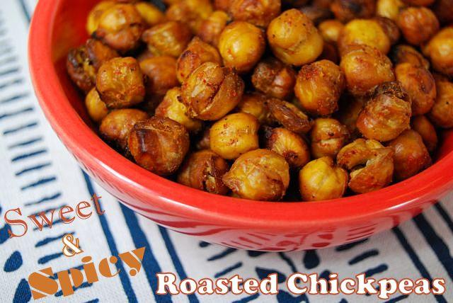 peas1 Sweet & Spicy Roasted Chickpeas