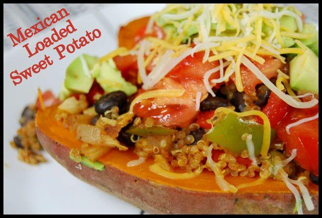 A easy weeknight dinner! These vegetarian Mexican Loaded Sweet Potatoes c