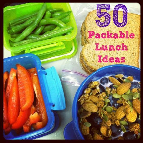 Tired of eating the same things for lunch every day? Here are 50 Healthy Packable Lunch Ideas to make lunchtime more exciting!