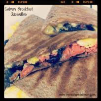 salmon breakfast quesadillas Salmon Breakfast Quesadillas