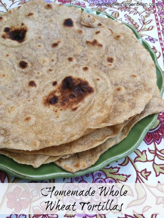 Have you looked at the ingredient list for store bought tortillas? Make your own Homemade Whole Wheat Tortillas with just a few simple ingredients! You'll never go back!