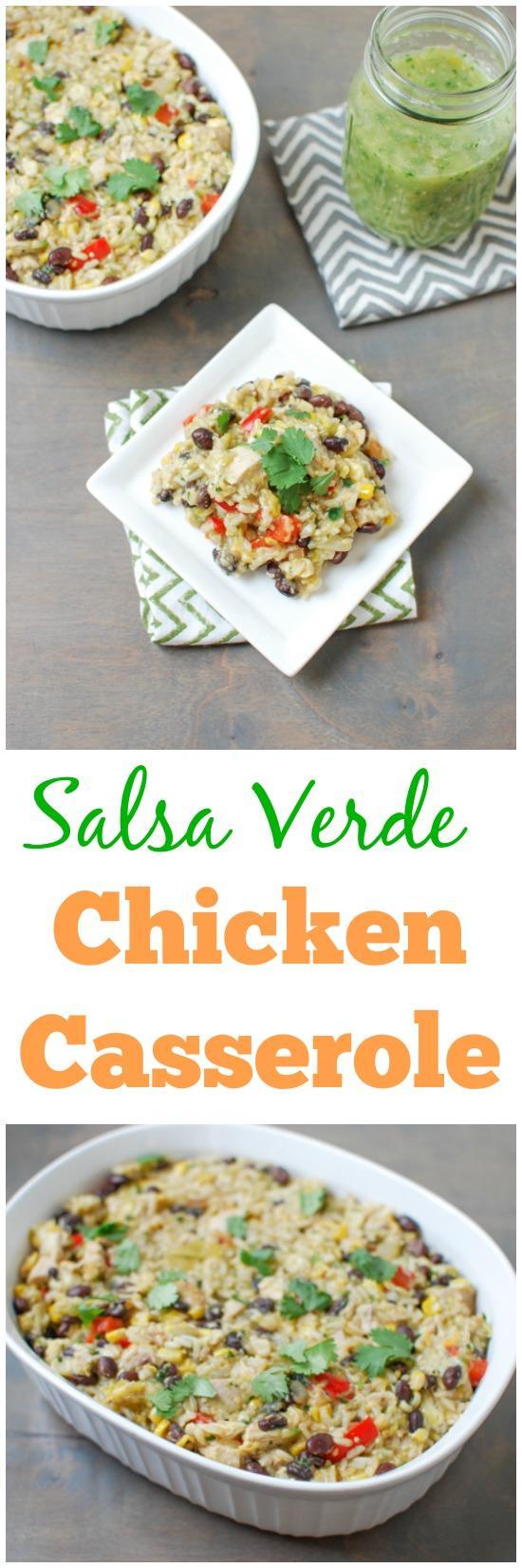 Salsa Verde Chicken Casserole | The Lean Green Bean | Bloglovin'
