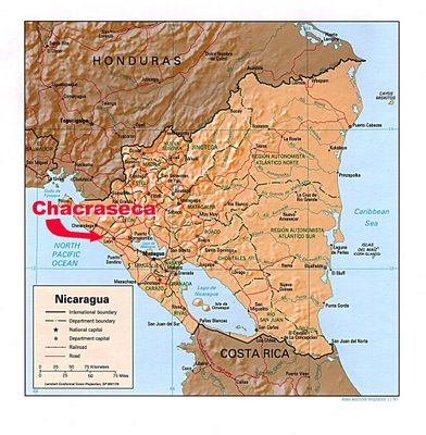 Nicaragua Map With Chacraseca