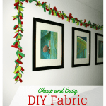 Cheap and Easy DIY Fabric Garland