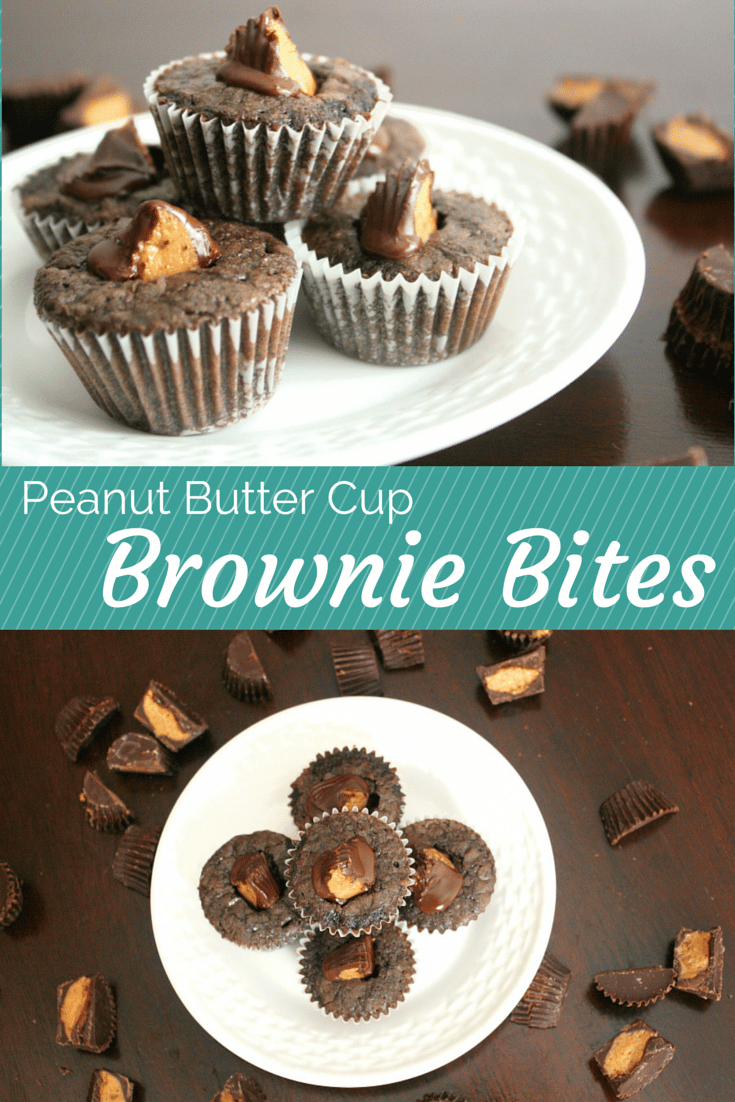 This mini Peanut Butter Cup Brownie Bites recipes is so quick and easy to make in a pinch. There's no shame in making the brownies from mix (don't worry, they'll still taste homemade)! The peanut butter cups make these even more delicious- they're perfect for a holiday get-together or cookie plate for any special occasion but are also great for last minute get-togethers.