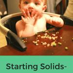 Starting Solids- Week 14 Progress