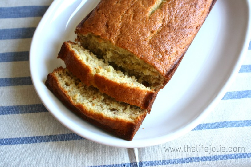 This family recipe for banana bread is so quick and easy to put together and the results are the most delicious, moist banana bread you'll find. Click on the photo to read more.