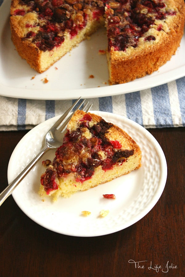 This Orange Cranberry Torte is so simple and easy to make and is the most delicious combination for sweet and tart. It's even better when made the night before and is especially great for the holidays!