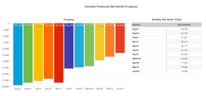 Hamlett Net Worth Progress