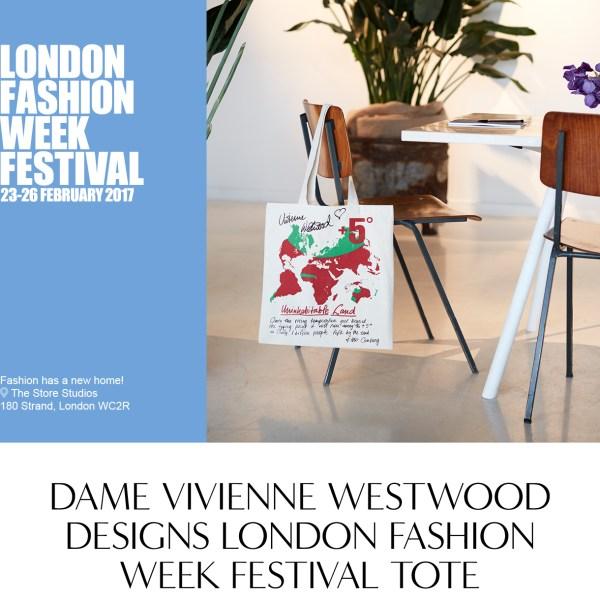 Vivienne Westwood Designer Tote In London Fashion Week Festival