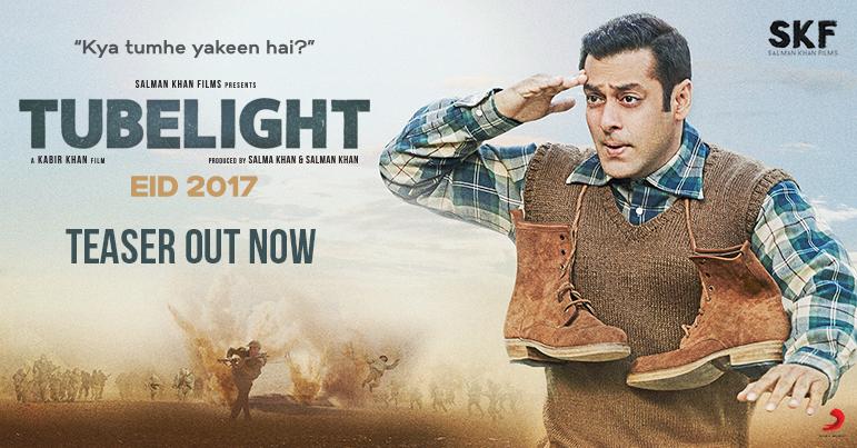 Salman Khan Starrer TUBELIGHT Teaser Is Out Now
