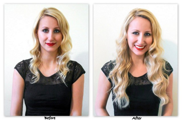 Irresistible Me Hair Extensions before and after