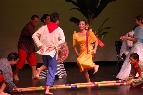 Tinikling - Traditional Bamboo Dance of the Philippines - Image by symplex
