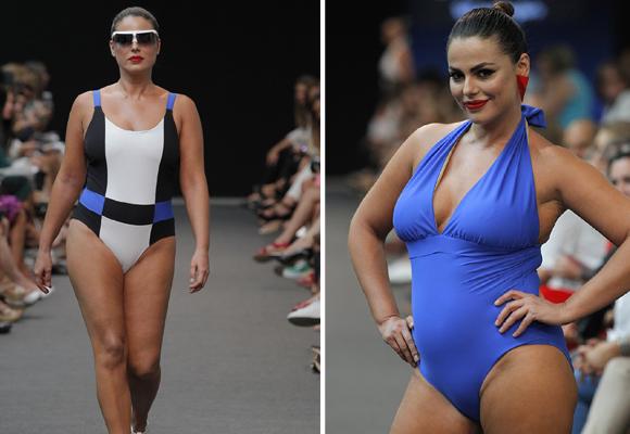 Marisa Jara, una de las modelos curvy que ha lucido los diseños de Adela & Viki