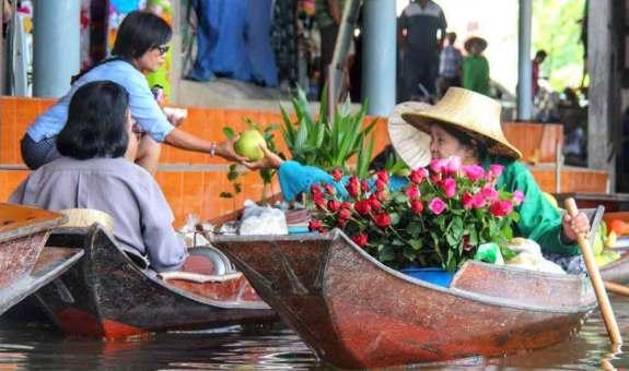 Los mercados flotantes de Bangkok