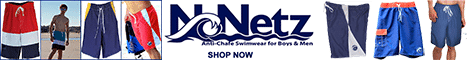 NoNetz anti-chafe swimwear for guys, men, boys, Made in USA, Made in America, American made