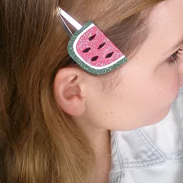Wore my new diy fruit hair clips out today! Tutorialhellip