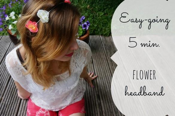 DIY 5 min flower crown headband