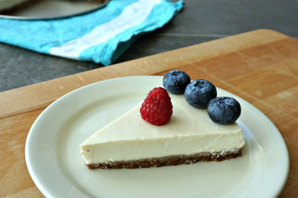 Healthy Heavenly Cheesecake recipe by The Makeup Dummy blog