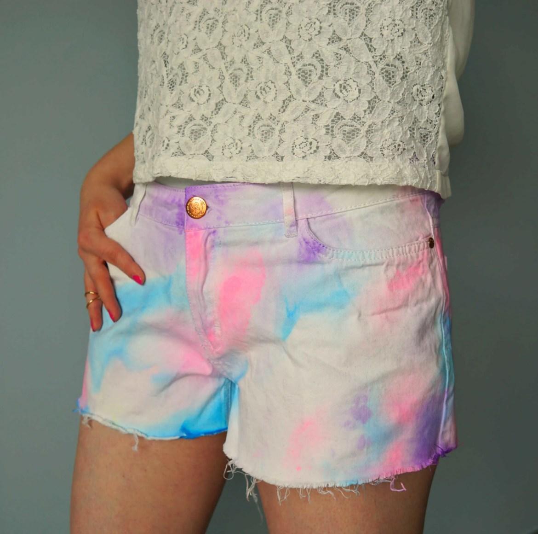 DIY Watercolor shorts