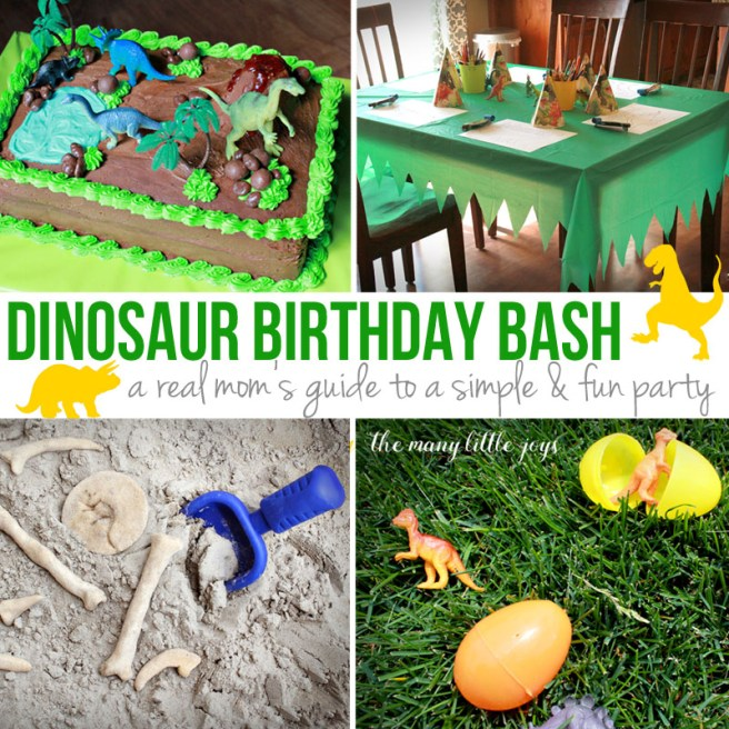 Have a dino-loving birthday boy or girl? Here is your complete guide to planning a dino-mite party, perfect for real moms who don't want to spend a fortune to throw a great bash!