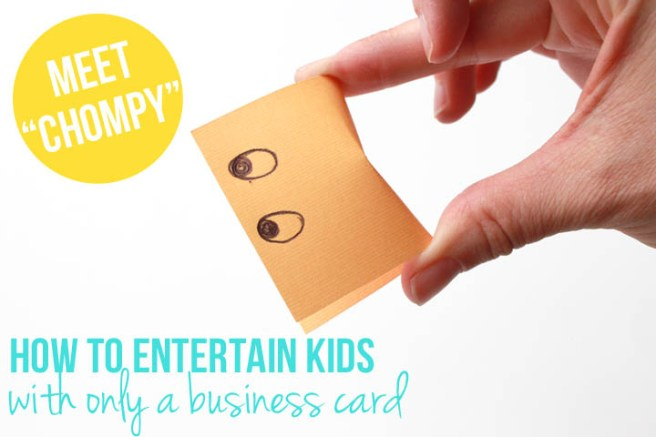 Next time you're waiting at the doctor's office, a restaurant, or the bank, grab a business card off the counter nearby and entertain your child with this simple trick.