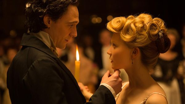 Hiddleston and Wasikowska in CRIMSON PEAK