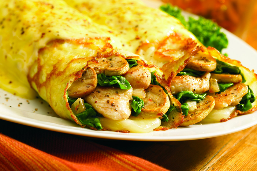 Hotcake Chicken Burritos