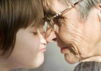 child and older person