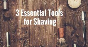 3 items for… 3 steps in shaving!